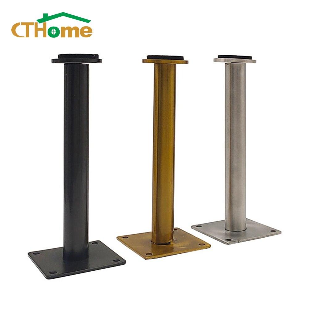 4 шт., регулируемые ножки из нержавеющей стали для мебели, металлические ножки для цилиндрического стола, кресла, дивана, кровати, телевизора...