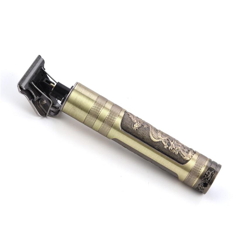 USB Rechargeable Ceramic Hair Clipper Barber Cordless Beard Trimmer Men Curving Haircut Shaver T-blade Hair Cutting Machine  50 enlarge