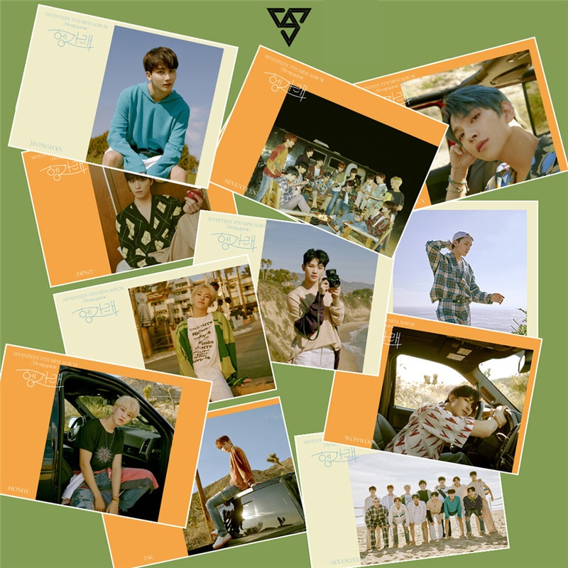 KPOP 2 pçs/set Dezessete Mini Álbum Vol.7 Heng  garae Baekhyun Cartaz Da Foto Adesivos XIUMIN SUHO 21*30CM WJ481