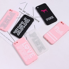 ¡Novedad! Carcasa Victoria moderna de TPU de silicona suave rosa para iPhone 7 Plus, carcasa de teléfono para iphone 6 6s 11 8 8plus x 10, teléfono secreto