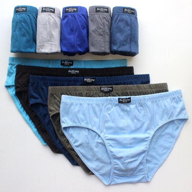 5pcs/Lot 6XL 5XL 120KG 100% Cotton Underwear Men Birefs Mid Waist Triangle Comfortable Men Breathable Shorts Men Briefs недорого