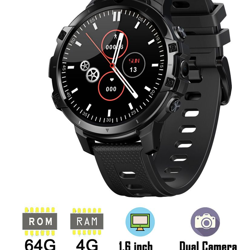 Review New 4G LTE Smart Watch Phone 1.6 Inch Full Cycle Full Touch Screen Helio P22 MTK6762 Octal-core CPU RAM 4GB ROM 64GB Smartwatch