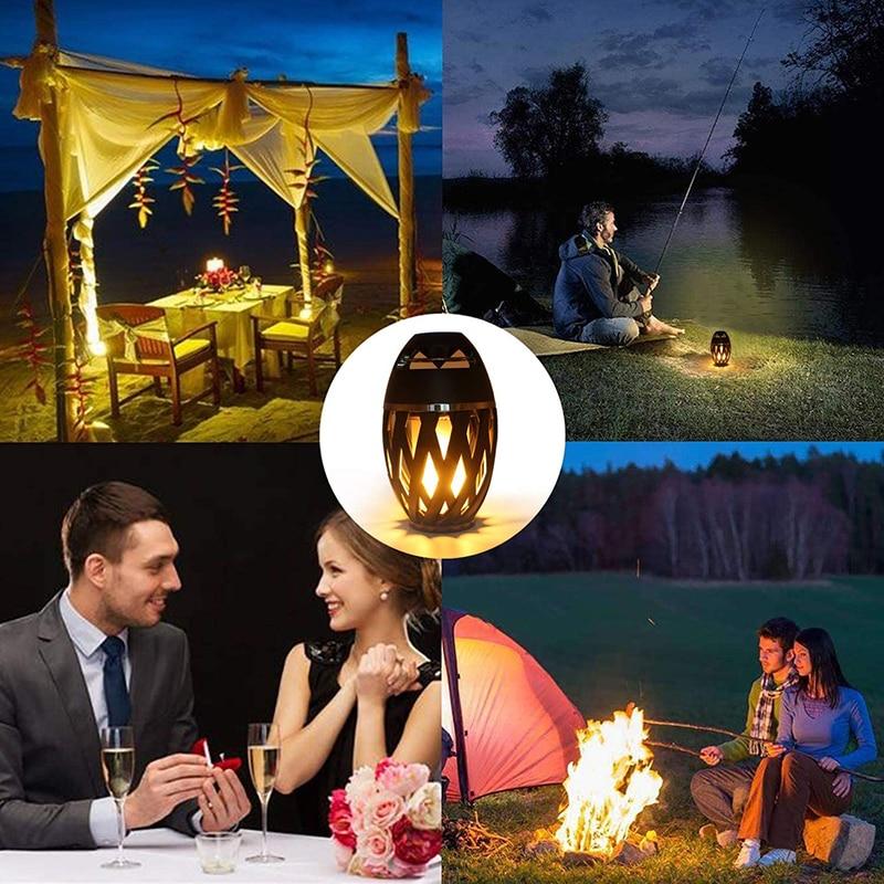 Flame Speakers Torch Atmosphere Speaker Bluetooth Wireless Portable Outdoor HD Audio Waterproof Speaker with LED Flickers Lights enlarge