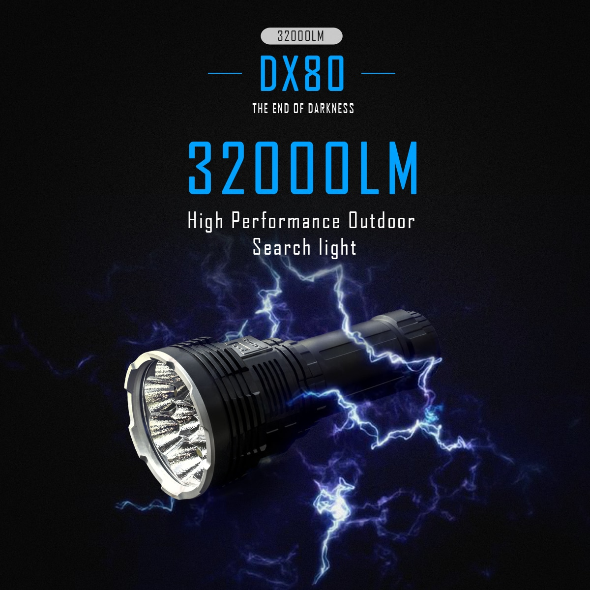 super torch search light imalent dx80 8 cree xhp70 max 32000 lumen beam distance 806 meter led flashlight for hunting IMALENT DX80 Powerful Flashlight Lantern LED Rechargeable 32000Lumen Ultra Bright Waterproof Flashlight Torch Cree Xhp70.2