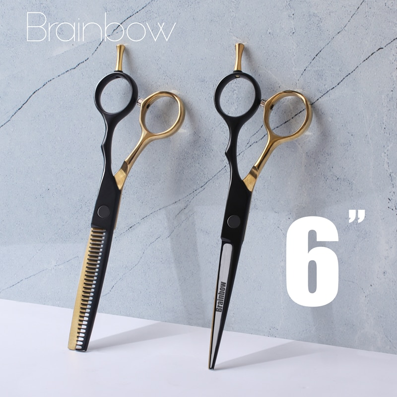 "AliExpress - Brainbow Professional 6""Hair Scissors Japan Hair Cutting Thinning Styling Tools Barber Scissors Set Hair Cutting Shears Haircut"