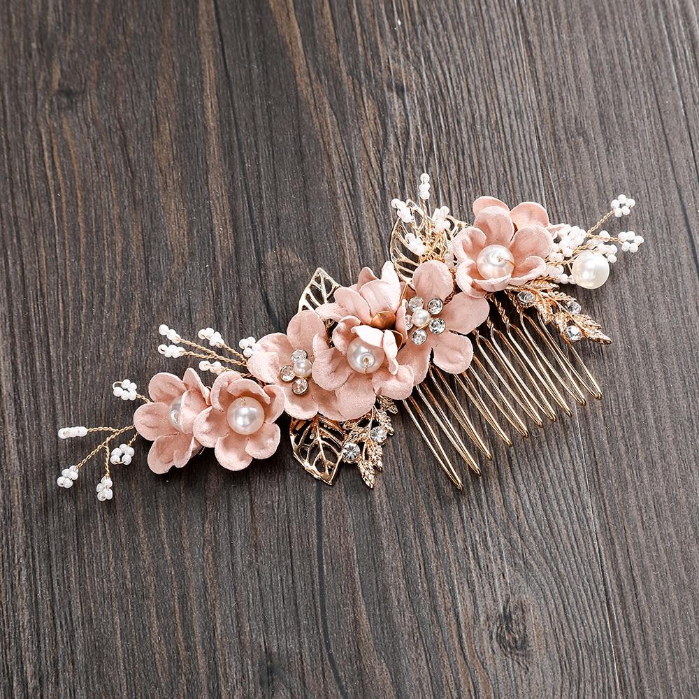 Luxe haarspeld voor vrouwen kammen hoofdtooi prom bruids bruiloft - Bruiloft accessoires - Foto 5