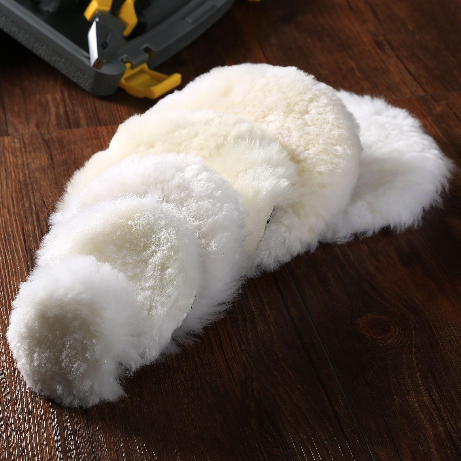 2Pcs 2inch Lambs Wool Pads Waxing Polishing Buffing Pad Wheel Auto Car Paint Care Polisher Pads Auto Polishing Tools Accessories