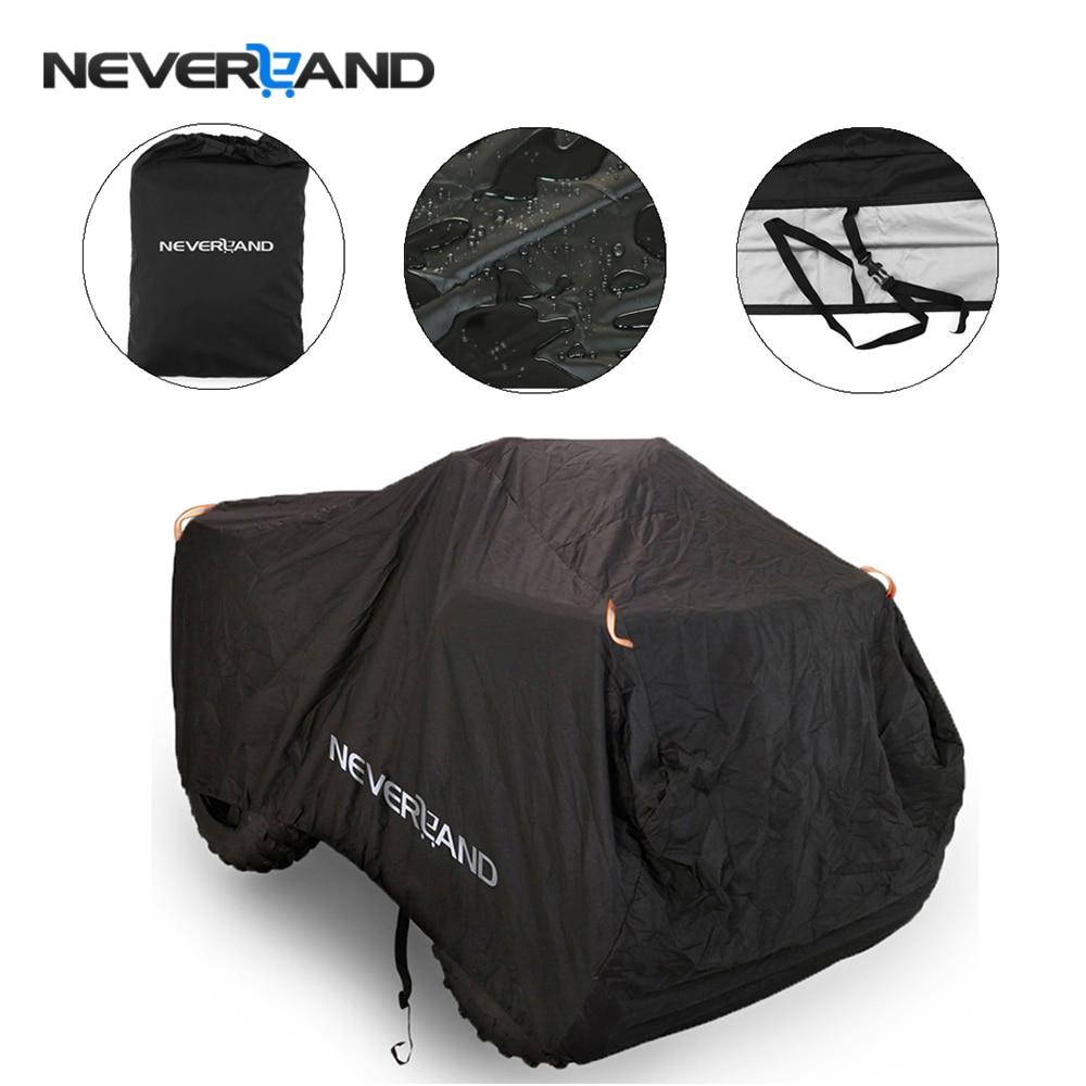 190T Waterproof Rain Proof Dust Anti-UV Beach Quad Bike ATV Cover Case For Polaris Motorcycle Covers M L XL XXL XXXL D20