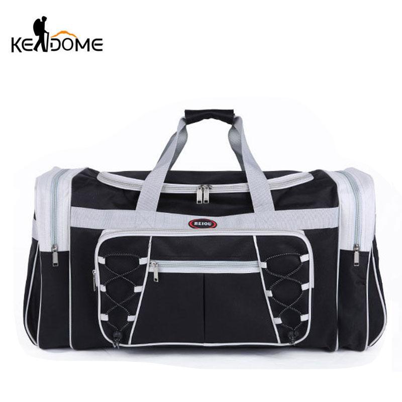 Waterproof Nylon Luggage Gym Bags Outdoor Bag Large Traveling Tas For Women Men Travel Dufflel Sac De Sport Handbags Sack XA15WD