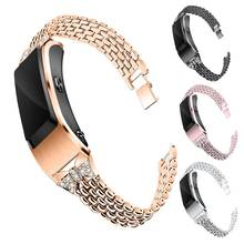 18mm Universal Stainless Steel Bracelet Strap Diamond Jewelry Watch Band for Garmin Active S Wirstst
