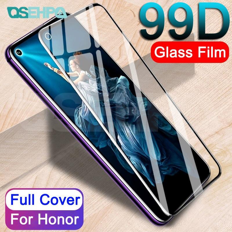 Vidrio protector 99D para Huawei Honor 9 10 Lite 9X V10 V9 Play Honor 20 8 Lite V20 película de vidrio templado Protector de pantalla