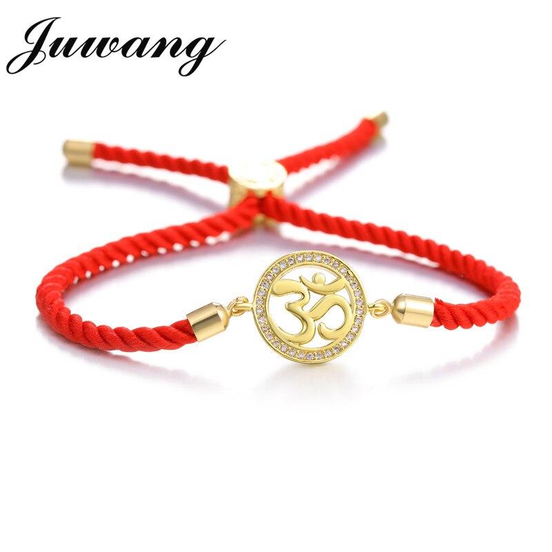 Pulsera JUWANG para amantes de la cadena roja par de Pulseras mujeres hombres deseo joyería regalo Bransoletki Damskie Pulseras brazalete