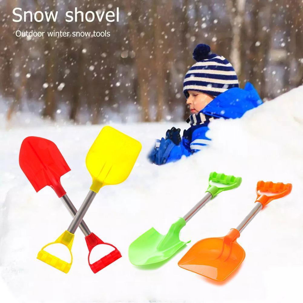 2 шт./компл. Детская лопата для снега детские пляжные лопата для снега со стальной ручкой детская лопатой садовые инструменты