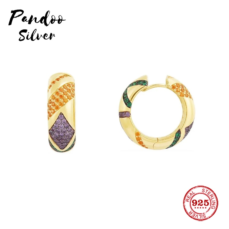 Copia de encanto de moda 11, pendientes multicolores amarillos, regalo de joyería de lujo para mujer