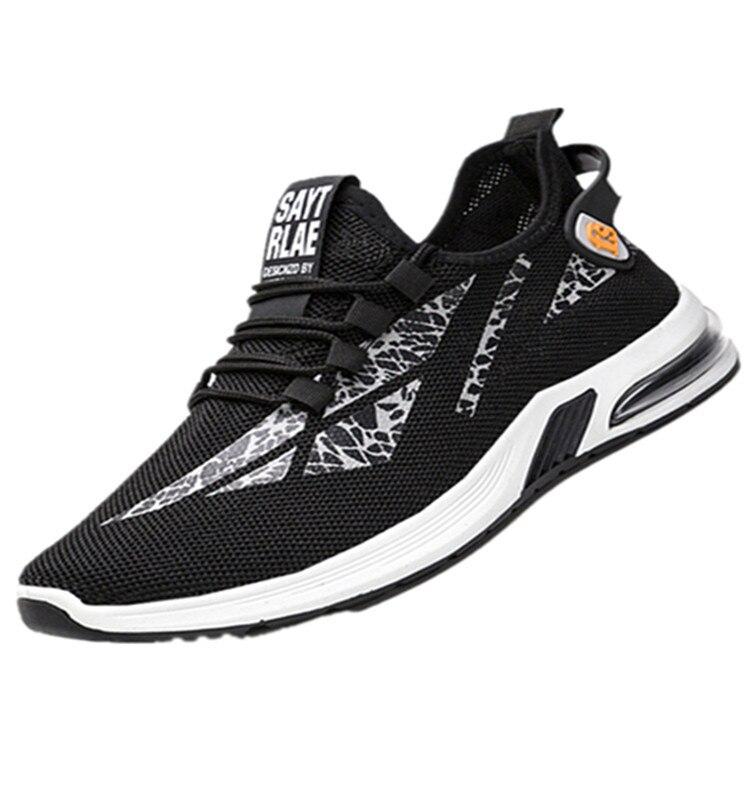 Zapatillas de deporte para hombre, zapatos de malla transpirables con cordones para hombre, zapatos vulcanizados informales antideslizantes a la moda para hombres, Tenis masculinos