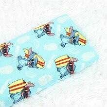 Halben meter blue bottom künstliche baumwolle cartoon gewebe weich in der nähe haut tuch für kleid kleid pyjamas material CR-224