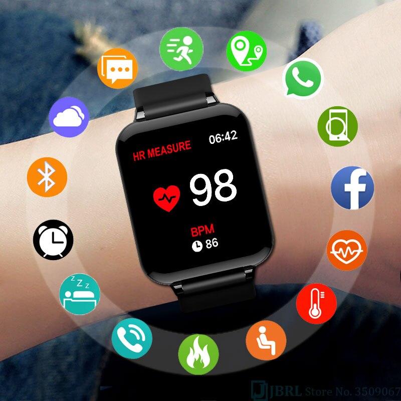 B57C deporte Color LED reloj de pulsera Digital hombres HD reloj música play control electrónica relojes de pulsera mujeres reloj Digital teléfono