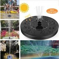 mini solar water fountain pool pond waterfall fountain garden decoration outdoor bird bath solar powered fountain floating water