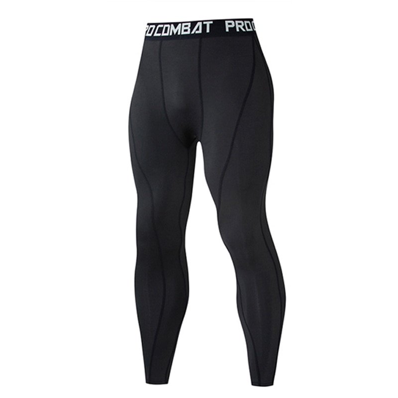 Thermal Pants Leggings Tights Compression MMA Tactics Long Johns Underwear Solid Color Quick-drying Track Suit Men Sportswear