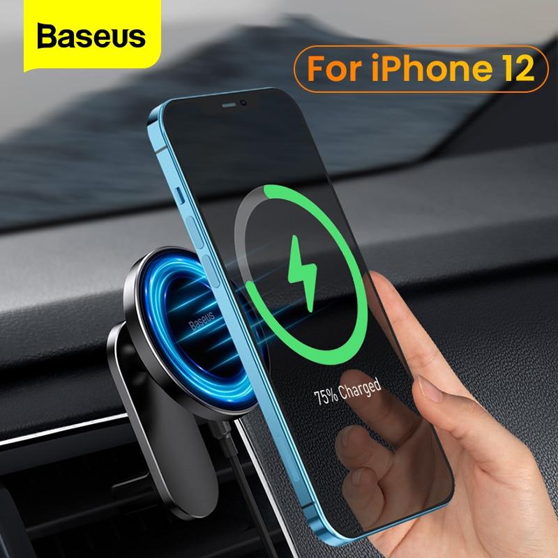 baseus carro magnetico carregador sem fio telefone titular ventilacao de ar universal