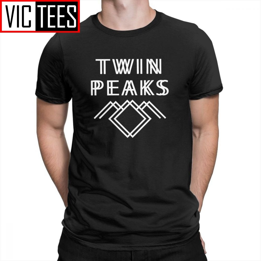Twin Peaks Men T Shirts Creative Tees Short Sleeved Apparel Pure Cotton T-Shirts Male Stylish Popular TV Series