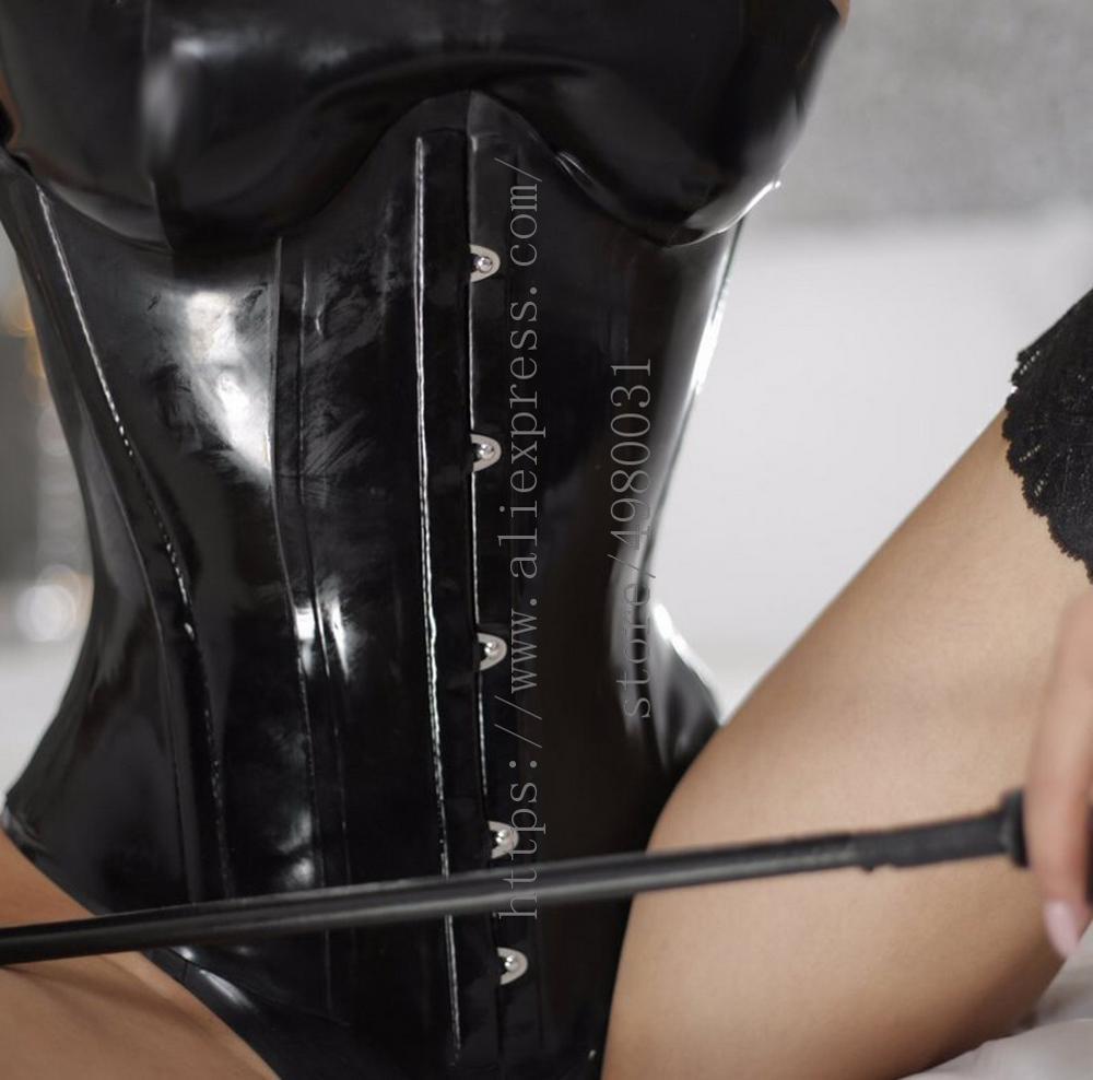 الظهر جلد حتى تصميم المرأة السوداء underالصدر 0.8 مللي متر cincher الخصر مشد مغلقة مع الجبهة 5 عظام معدنية