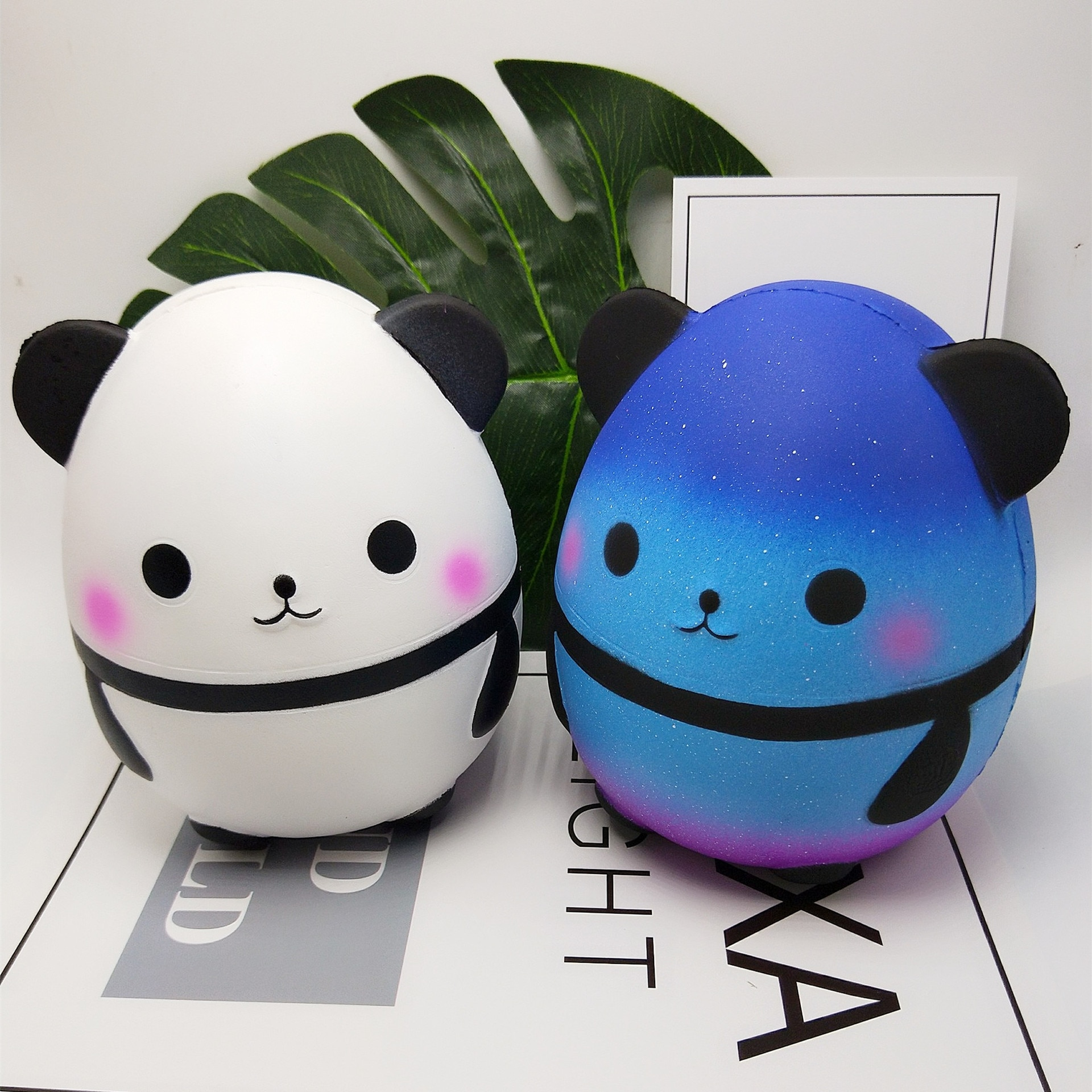 Slow Rebound Toy Squishy New Product Simulation Slow Rebound PU Ornament Panda Egg Decompression Toy Stress Toy enlarge
