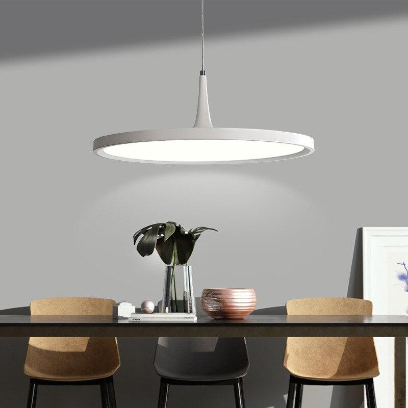 مصباح سقف Led دائري رقيق للغاية ، تصميم حديث ، إضاءة داخلية ، إضاءة سقف زخرفية ، مثالي لغرفة الطعام ، البار ، شمال أوروبا.