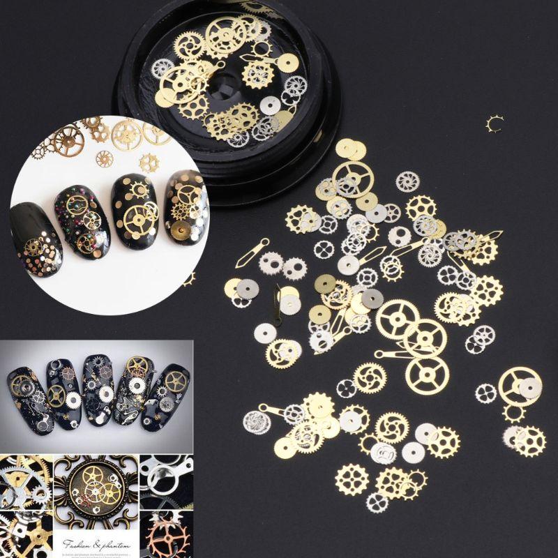 120 Uds variados Steampunk Cogs Gear encanto del reloj UV Marco resina rellenos de joyería DIY PXPB
