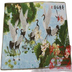 Tangka Portrait Paintings Hung Kam Cloth Painting Home Furnishing Like Lotus Fairy.