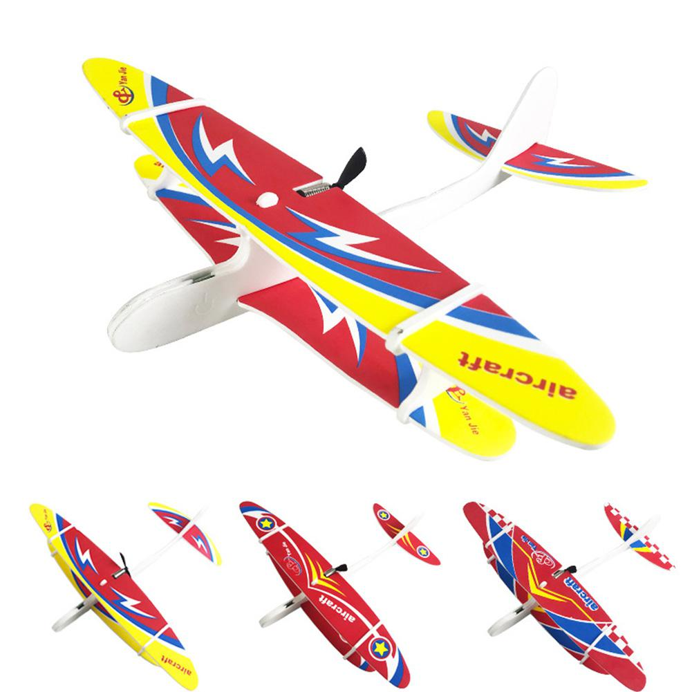 RC Aircraft Rechargeable USB Hand Throwing Aircraft Gyro Glider Model Toy for Kids