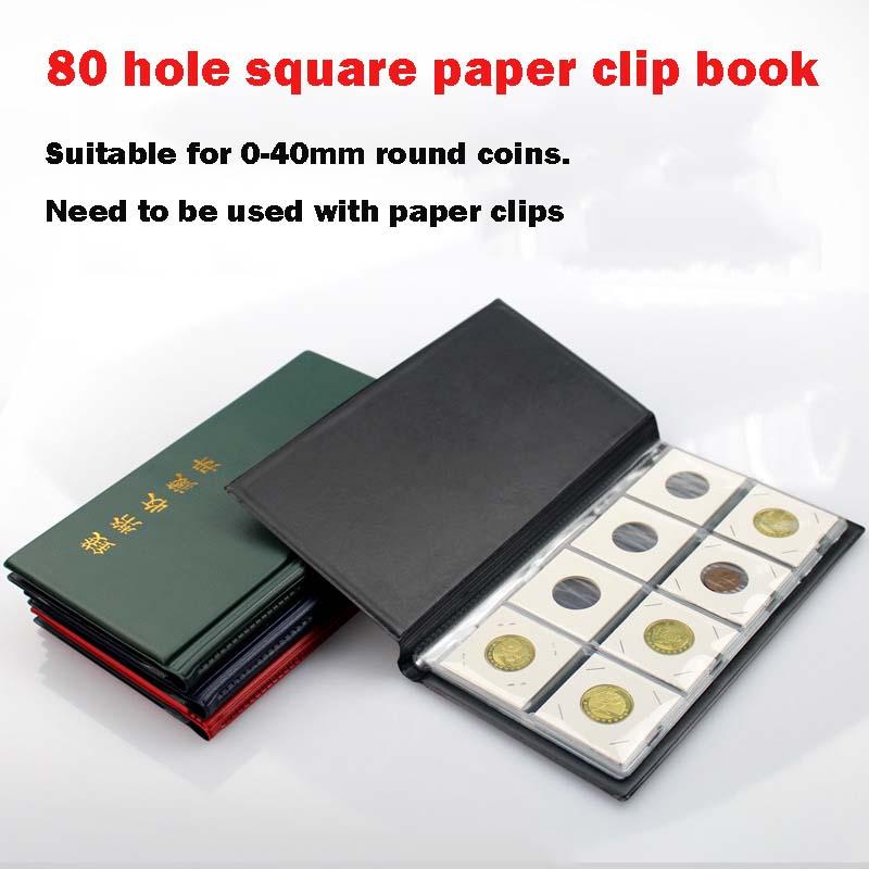 PCCB Памятная коллекция монет книга для монет 80 сетка бумага клип книга пустой объем