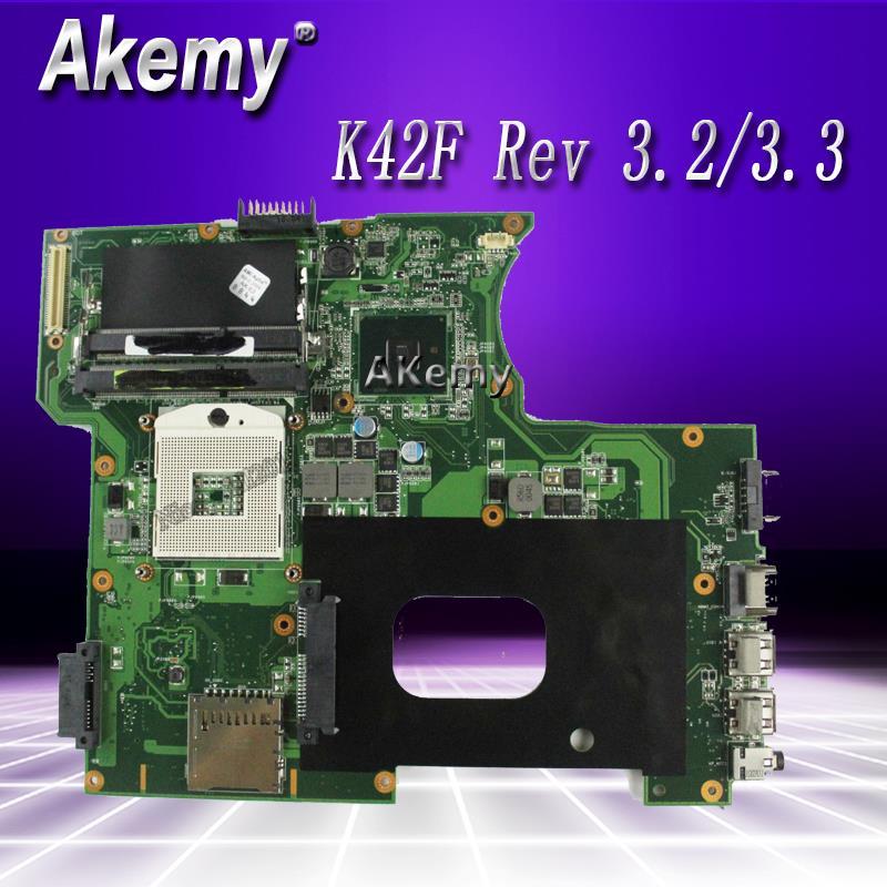 K42F Rev 3.2/3.3 GMA HD USB2.0 HM55 PGA989 اللوحة ل For Asus K42F X42F a42F P42F اللوحة 100% اختبارها بشكل كامل