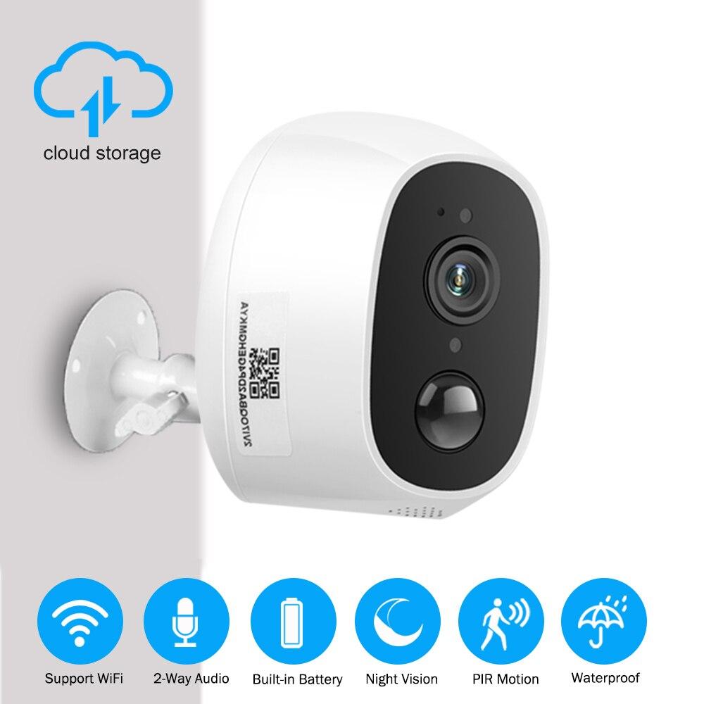 ZILNK Cámara WIFI para exteriores 1080P HD IP inalámbrica Cámara bala de energía de la batería recargable de seguridad CCTV impermeable P2P nube