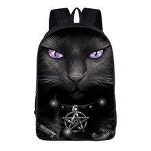 Sacs décole pour tête de chat, Punk gothique, sac à dos pour les étudiants, filles et garçons, pour adolescents, 16 pouces