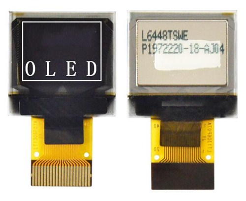 Ips 0.66 polegada 20pin spi branco tela oled ssd1306 drive ic 64*48