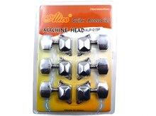 Alice ALP-015P Retro Semiclosed Acoustic Guitar Tuning Pegs Chrome Plated Tuners Machine Head 3L+3R