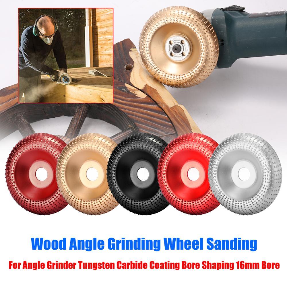 Nouvelle meule dangle en bois ponçage sculpture outil rotatif disque abrasif meuleuse dangle carbure de tungstène revêtement alésage façonnage