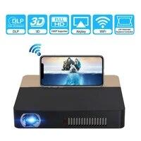 Mini projecteur sans fil DLP projecteur pour Home Cinema 3D affichage 2000 Lumen HD Support 1080P Bluetooth videoprojecteur