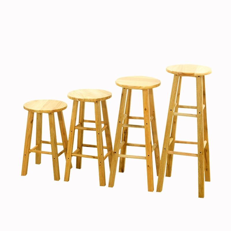 N1B Solid wood bar stool high bar chair High stool bar stool rubber wooden ladder stool High bar chair