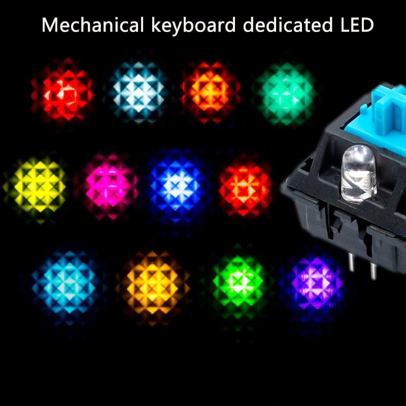 Mechanical keyboard LED lamp beads ice blue 3mm edgeless LED IKCB change lamp plus light highlight backlight bulb