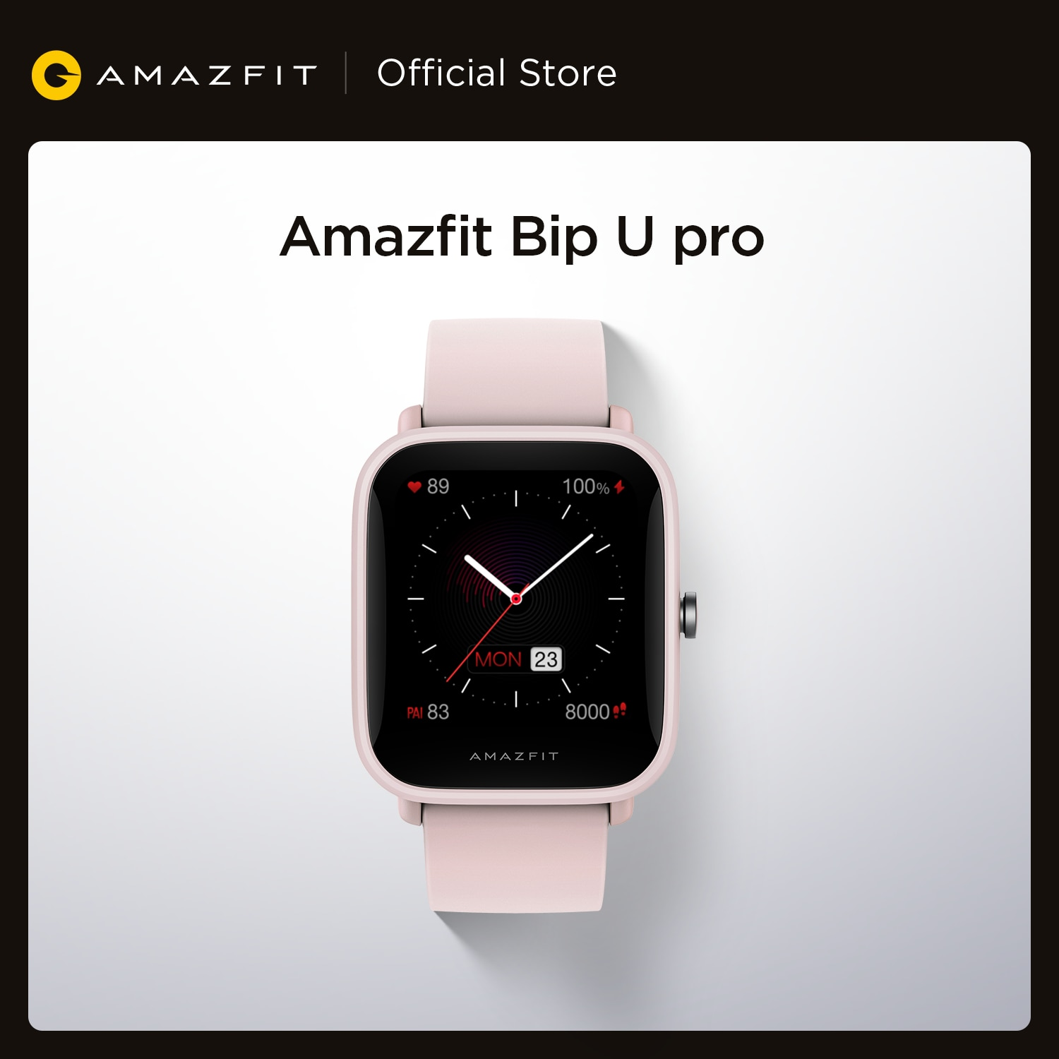 NEW 2021 Amazfit Bip U Pro GPS Smartwatch Color Screen 31g 5ATM Water-resistance 60+ Sports Mode Smart Watch for Android IOS