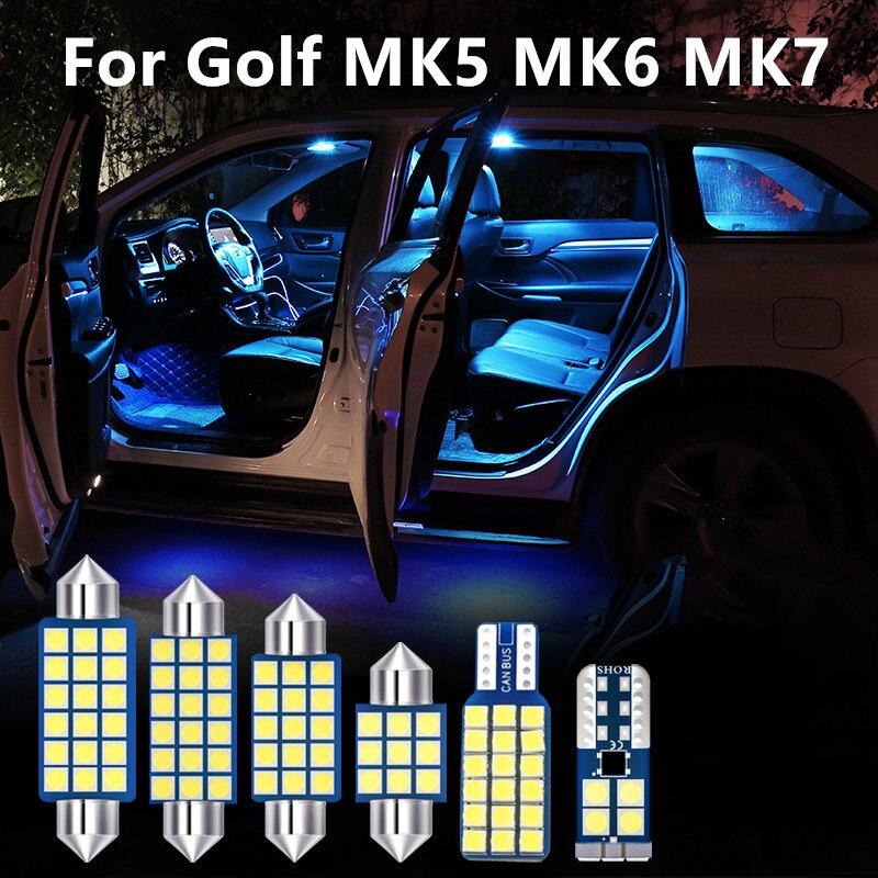 Coche productos accesorios bombilla LED tipo paraVolkswagen Golf MK5 MK6 MK7 GTI...