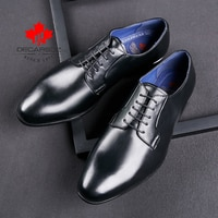 Formal Shoes Men Autumn 2021 Fashion Wedding Casual Leather Dress Shoes Man Black Office Business Lace-Up New Brand Men Shoes