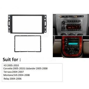 Double Din Fascia for HUMMER H3 /SAAB 97X/Corvette Radio DVD Stereo CD Panel Dash Mount Trim Frame
