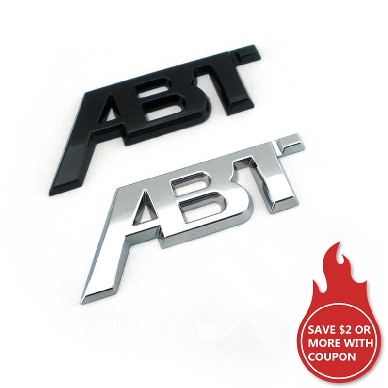 3D Adhesive ABT Emblem Car Sticker For Volkswagen Golf 5 6 7 MK6 MK7 Polo ABT Sportsline Waterproof Interior Exterior Decor Trim