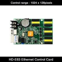 HD-E63 Ethernet y puerto USB, 4 x HUB08 y 8 x HUB12, puerto de 1024x128 píxeles, pantalla LED tricolor única y Dual, tarjeta controladora de señal
