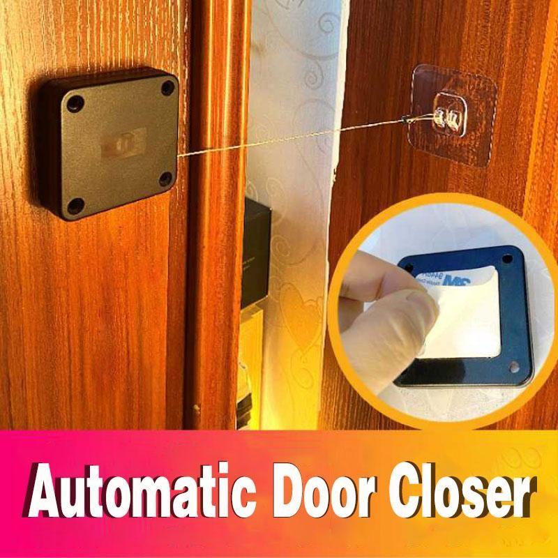 Punch-livre automático sensor de porta mais perto da mola de fechamento da porta liga de zinco ajustável superfície montada mais perto da porta automática