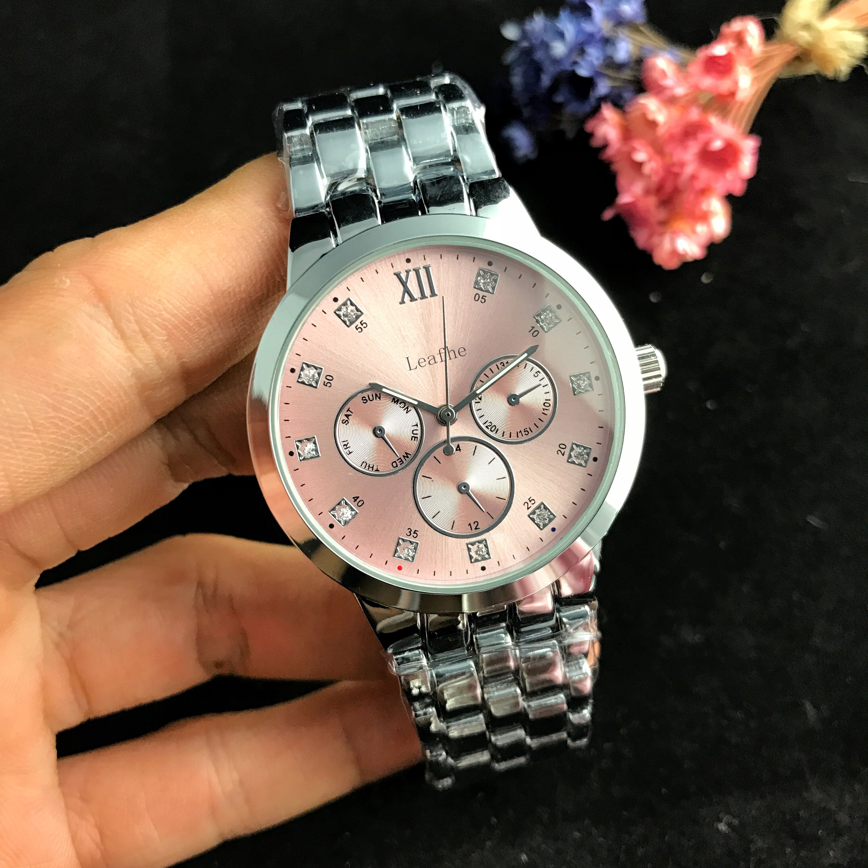Fashion Diamond Quartz Watch Butterfly Clasp Stainless Steel Strap Women's Watches Black Clock First Choice Gift montre femme enlarge