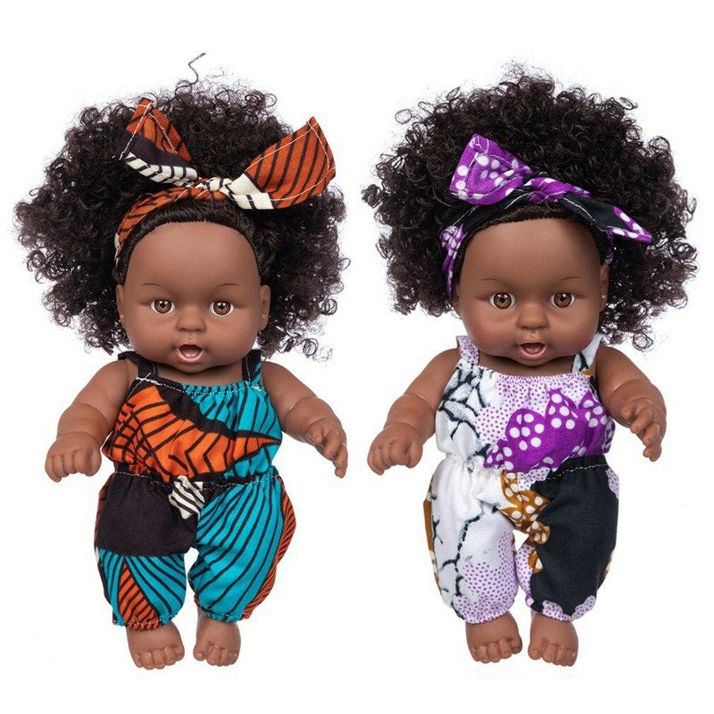 Высококачественные Мультяшные африканские куклы для детей, милые игрушки-Имитаторы, куклы 20 см, Преувеличенные куклы для моделирования, лу...